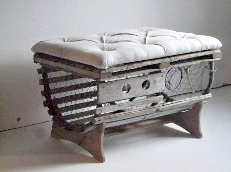 buy a hand crafted reclaimed vintage lobster trap coffee table