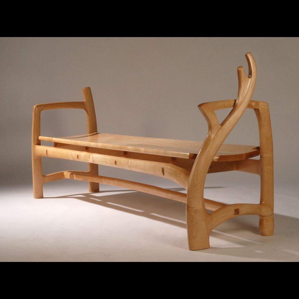 Handmade maple bench 2 by blackstone design custommade custom made maple bench 2 sciox Image collections