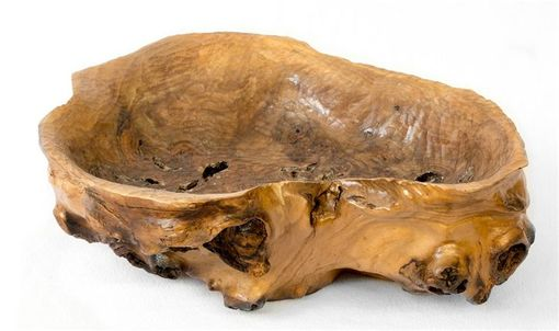 Custom Made Hand Carved Bowl Of Walut Root