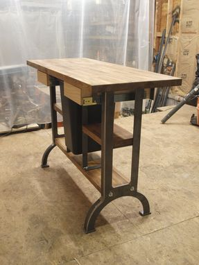 Custom Made Modern / Industrial Kitchen Island Console Table