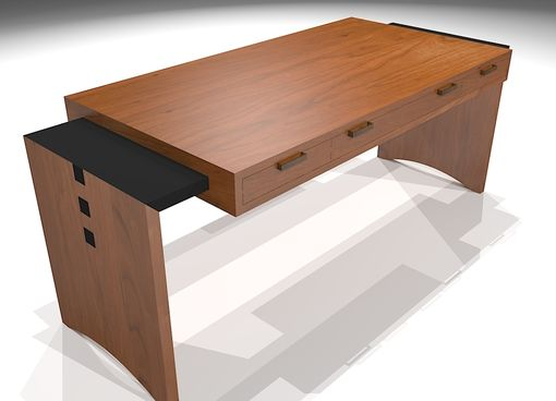 Custom Made Modern Mission Desk #1