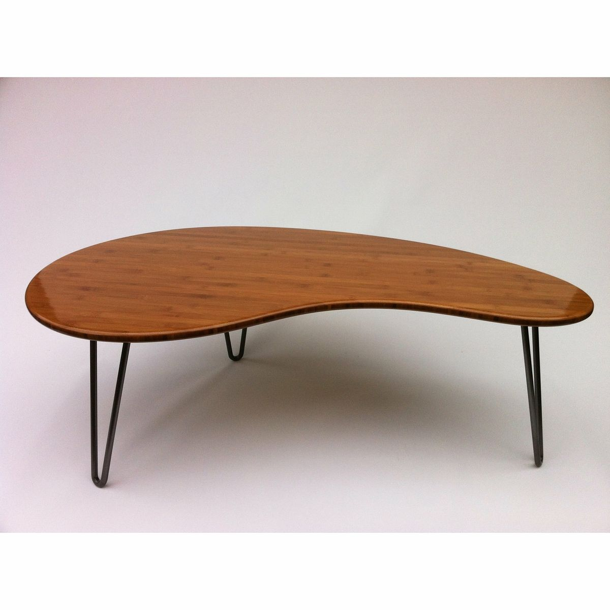 Custom Made Coffee Table Kidney Bean Shaped Atomic Eames Era Boomerang Design Mcm Inspired