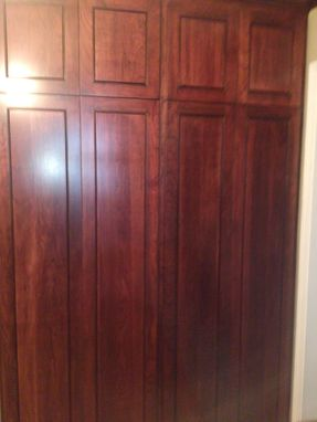 Custom Made Cherry Kitchen With Beaded Shaker Raised Panel Doors
