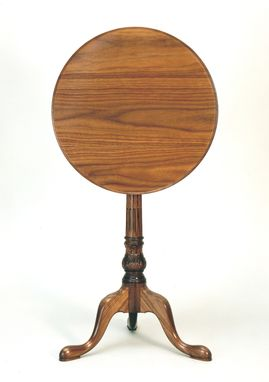 Custom Made Carved Tilt Top Table