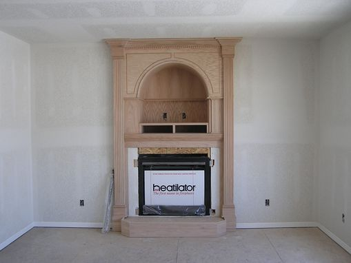 Custom Made Fireplace - Maple With Arch