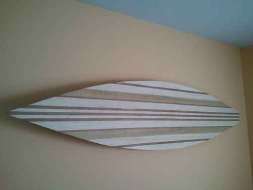 Custom Made Large Surfboard Wall Art