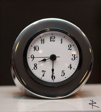 Custom Made Polished Cessna Piston Desk Clock