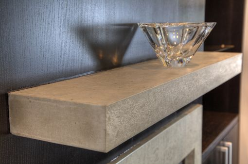 Custom Made Floating Concrete Shelf