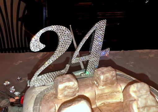 Custom Made Crystallized Cake Topper Numbers Age Birthday Wedding Party Bling Swarovski Crystals Bedazzled