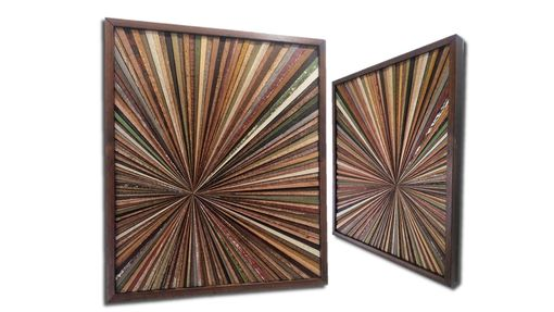 Custom Made Reclaimed Wood Wall Art Custom Made Wood Starburst Rustic Modern Contemporary Wood Abstract Wall Art