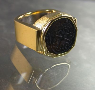 Custom Made Men's Yellow Gold Ring