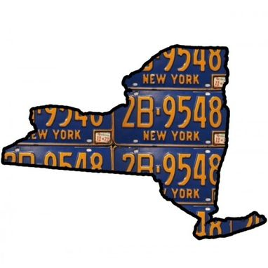 Custom Made State Of New York Map