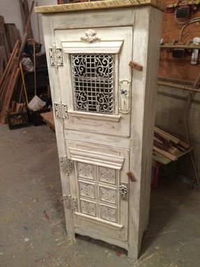 Custom Made Steampunk Clothing/Linen Cupboard, Antique Whitewash