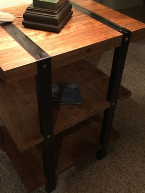 Custom Made Solid Wood Side Table