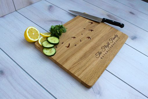 Custom Made Personalized Cutting Board, Engraved Cutting Board, Custom Wedding Gift – Cb-Wo-Flight Family