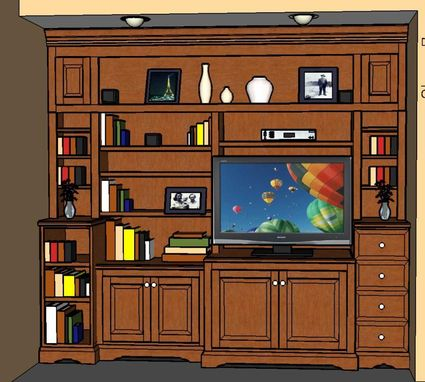 Custom Made Bookcases & Entertainment Center