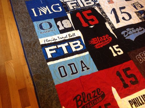 Custom Made Custom High School/College Baseball Jersey Tshirt Memory Quilt