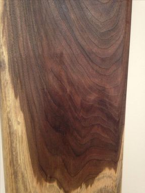 Custom Made Black Walnut Cutting Board With Long Handle