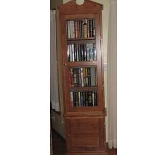 Custom Made Tall Glass Front Book Case
