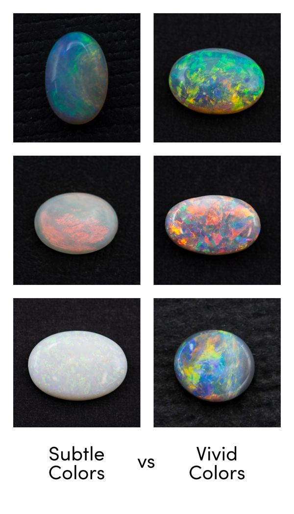 Do you like opals with more subtle or more intense flashes of color?
