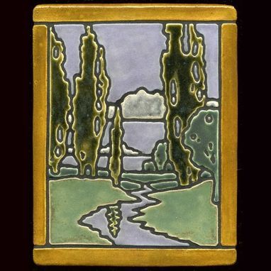 Custom Made Craftsman Style Landscape Tile 'Idyll'