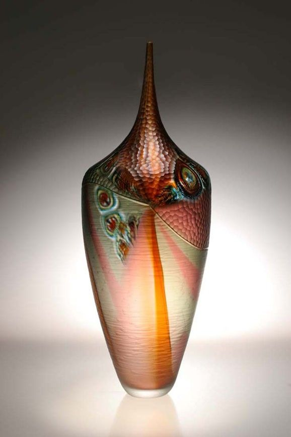 Custom Made Murano Art Glass Vase By Afro Celotto By Joseph Wright