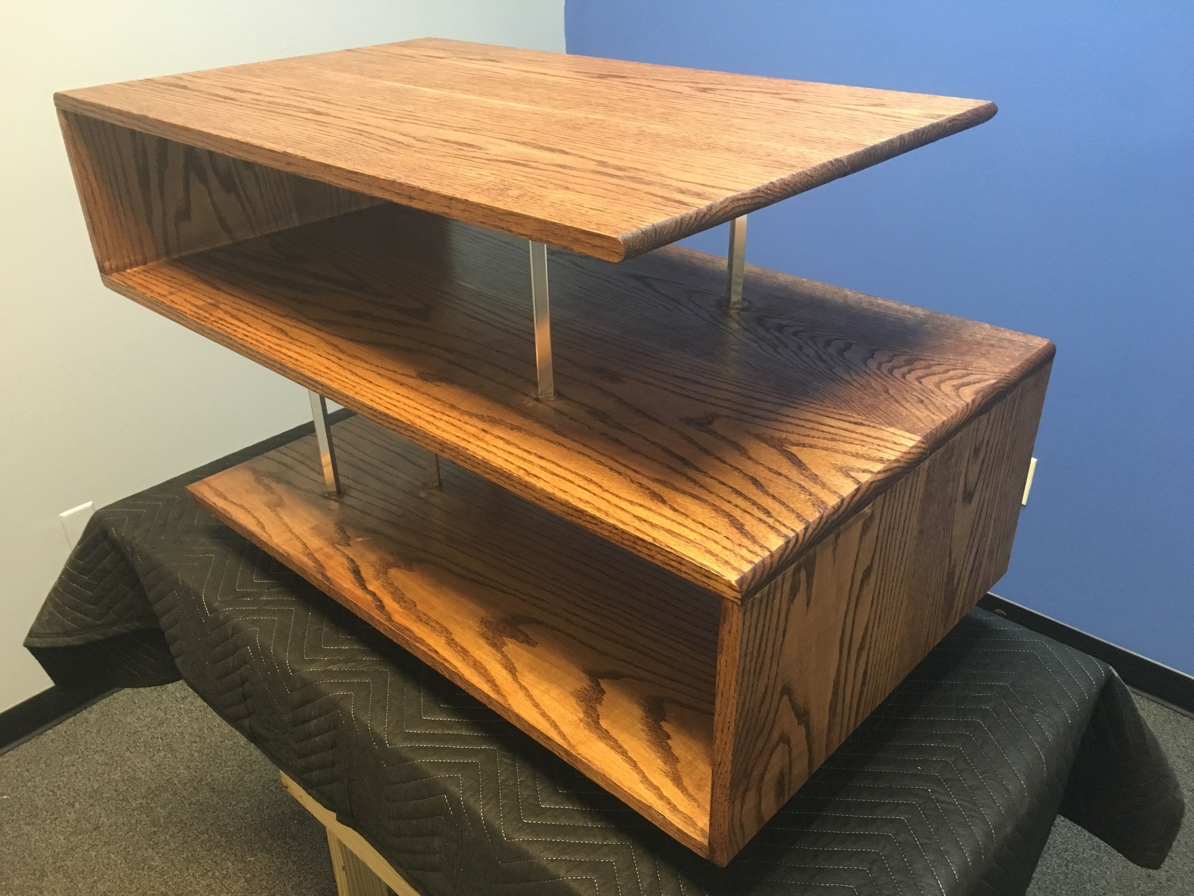 Pleasant Buy A Handmade Red Oak Coffee Table Made To Order From Machost Co Dining Chair Design Ideas Machostcouk