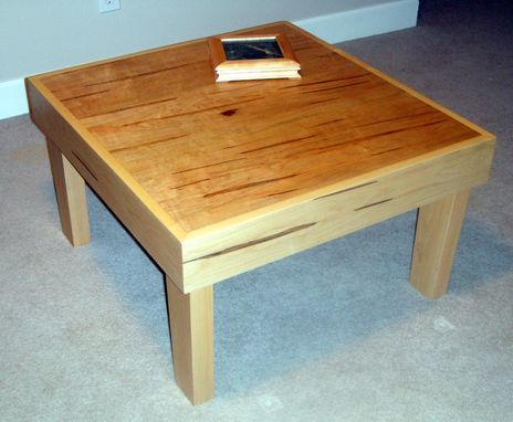 Custom Made Mr2 Coffee Or End Table Made From Ambrosia And Soft Maple