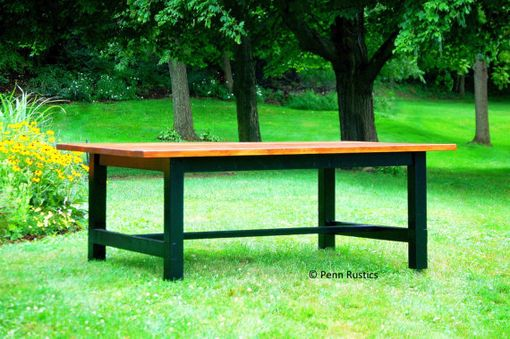 Custom Made Country Rustic Farmhouse Dining Room Table & Benches