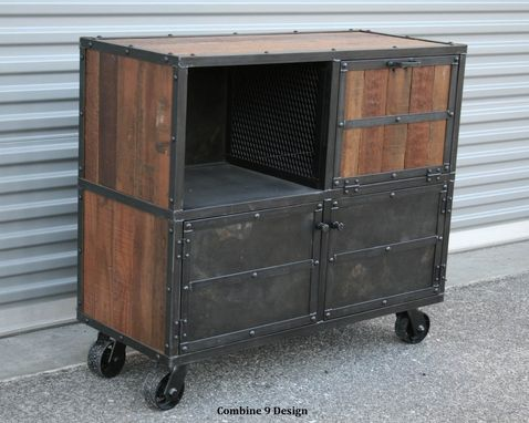 Bar Cart/Liquor Cabinet. Vintage Industrial. Urban/Modern Design. Reclaimed  Wood. Rustic. Distressed - Buy A Custom Made Bar Cart/Liquor Cabinet. Vintage Industrial. Urban