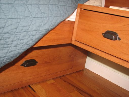 Custom Made Custom King Size Pedestal Bed With Drawers