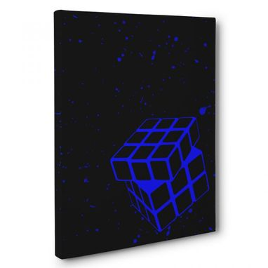 Custom Made Blue Cube Solver Canvas Wall Art