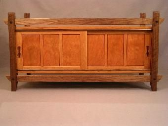 Custom Made Cherry Floating Hd Tv Cabinet