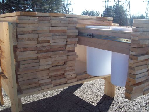 Custom Made Wood Pile Cabinet