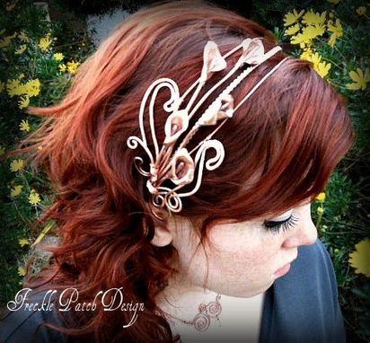 Custom Made Copper Bridal Headband