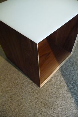 Custom Made Contemporary Walnut Cocktail Table
