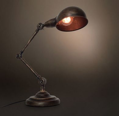 Custom Made Vintage Industrial Light The Medieval Retro Table Lamp