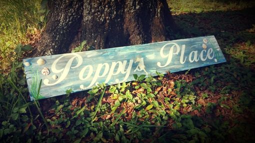 "Custom Made Poppys Plqce 4' X 8"" Beach Sign"