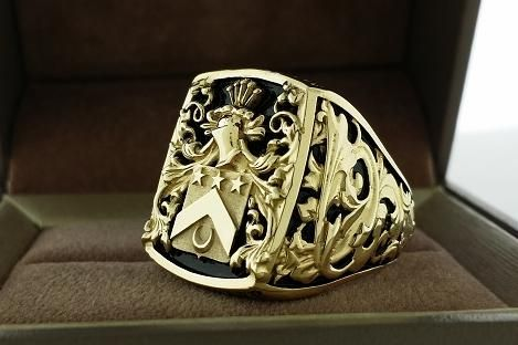 Custom Made Mens Ring Crest Ring
