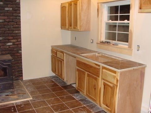Custom Made Hickory Kitchen Remodel