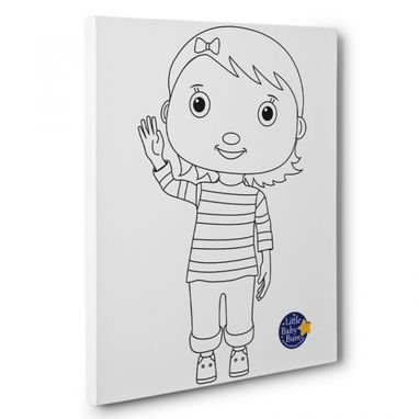 Custom Made Little Baby Bum Mia Kids Room Coloring Canvas Wall Art