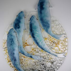 Fused Gl Artwork Blue Fish