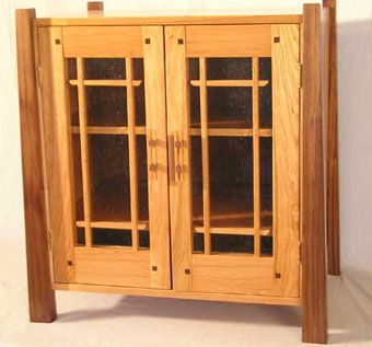 Custom Made Prairie Music Cabinet