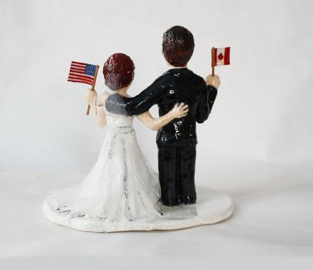 Custom Made International Couple Cake Topper