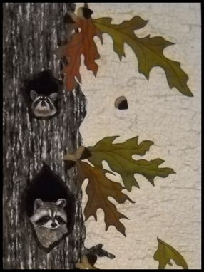 Custom Made Raccoon Condo Quilted Wall Hanging