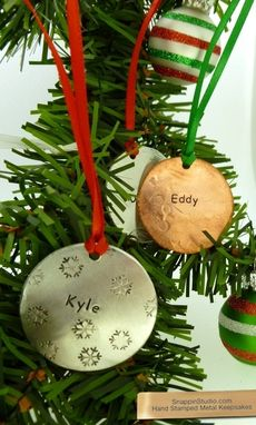 Custom Made Christmas Circle Ornament