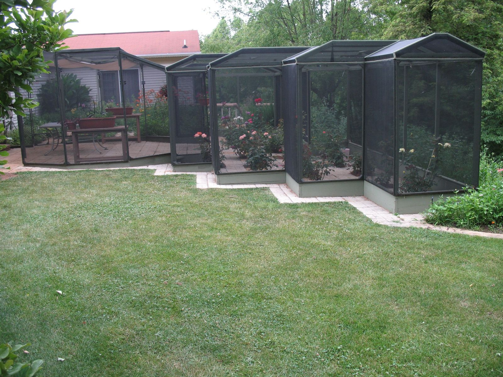 Hand Crafted Rose Garden Patio Screened In Enclosure By