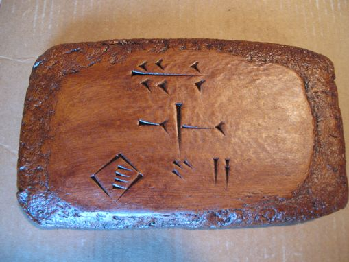 Custom Made Zikia Cuneiform Tablet.