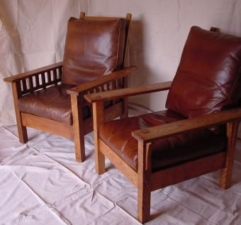 Custom Made Oak Craftsman Reclining Chair