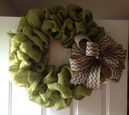 Custom Made Burlap Wreaths